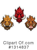 Boar Clipart #1314837 by Vector Tradition SM