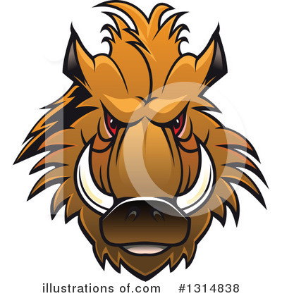 Boar Clipart #1314838 by Vector Tradition SM