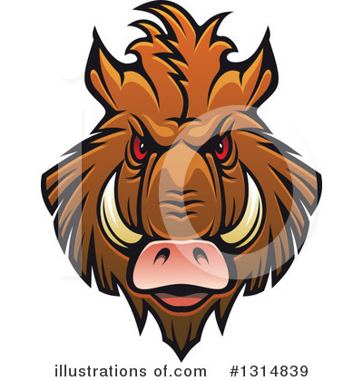 Boar Clipart #1314839 by Vector Tradition SM