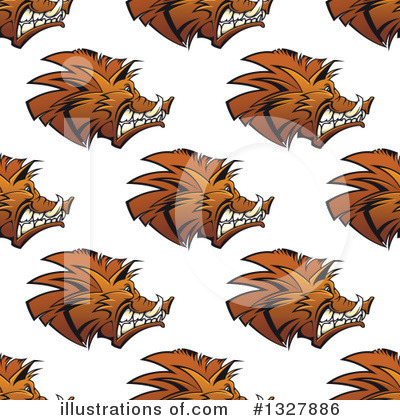 Boar Clipart #1327886 by Vector Tradition SM