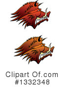 Boar Clipart #1332348 by Vector Tradition SM