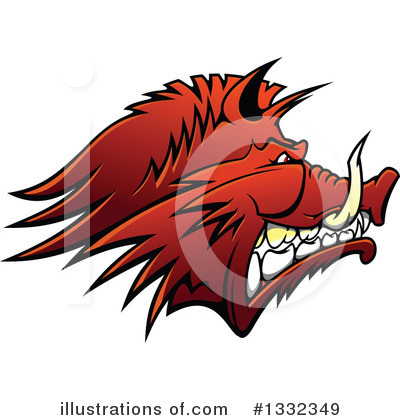 Royalty-Free (RF) Boar Clipart Illustration by Vector Tradition SM - Stock Sample #1332349