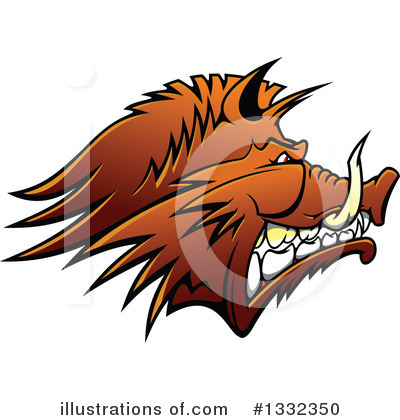 Boar Clipart #1332350 by Vector Tradition SM