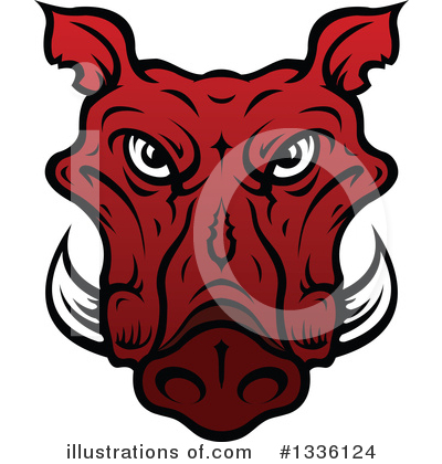 Boar Clipart #1336124 by Vector Tradition SM