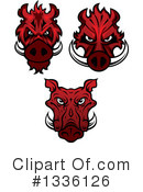 Boar Clipart #1336126 by Vector Tradition SM
