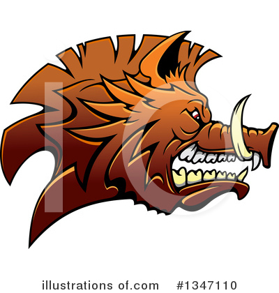 Royalty-Free (RF) Boar Clipart Illustration by Vector Tradition SM - Stock Sample #1347110
