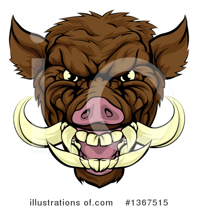 Boar Clipart #1367515 by AtStockIllustration