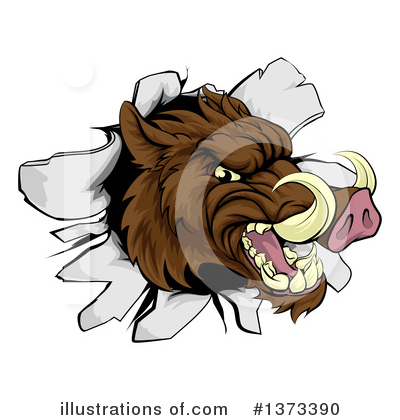 Boar Clipart #1373390 by AtStockIllustration