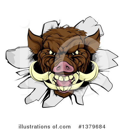 Boar Clipart #1379684 by AtStockIllustration