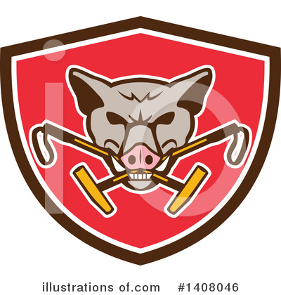 Boar Clipart #1408046 by patrimonio