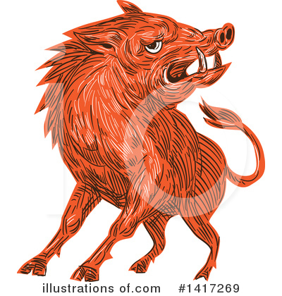 Boar Clipart #1417269 by patrimonio
