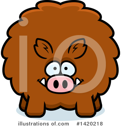 Boar Clipart #1420218 by Cory Thoman