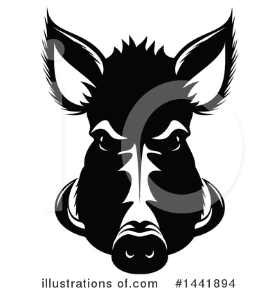 Royalty-Free (RF) Boar Clipart Illustration by Vector Tradition SM - Stock Sample #1441894