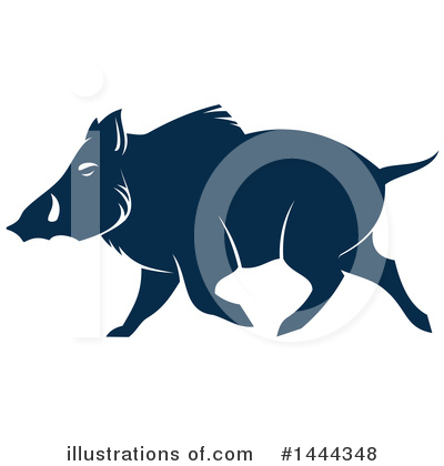 Boar Clipart #1444348 by Vector Tradition SM
