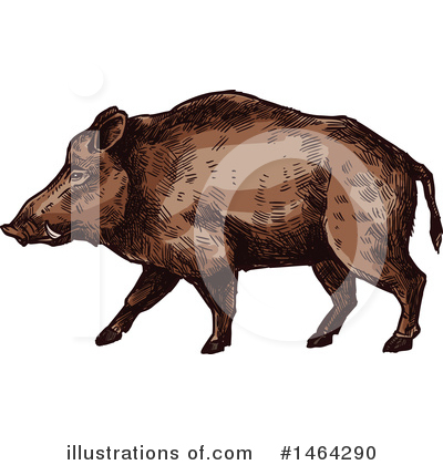 Boar Clipart #1464290 by Vector Tradition SM