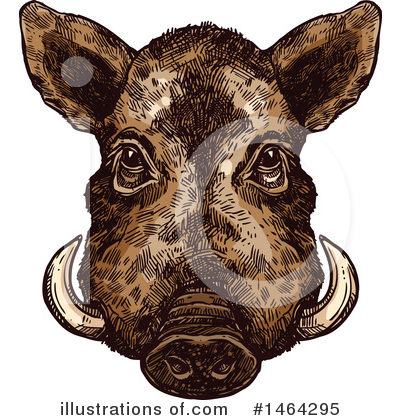 Boar Clipart #1464295 by Vector Tradition SM