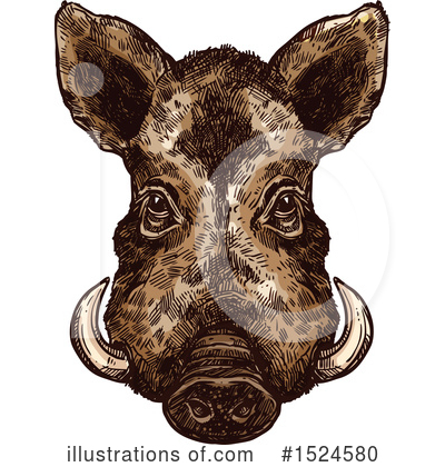 Boar Clipart #1524580 by Vector Tradition SM