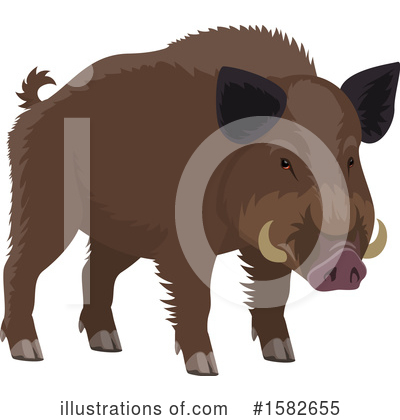 Boar Clipart #1582655 by Vector Tradition SM
