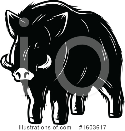 Royalty-Free (RF) Boar Clipart Illustration by Vector Tradition SM - Stock Sample #1603617