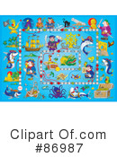 Royalty-Free (RF) Board Game Clipart Illustration #86987