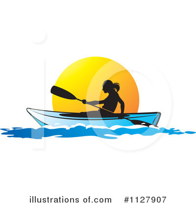 Kayaker Clipart #1127907 by Lal Perera