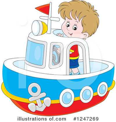 Royalty-Free (RF) Boat Clipart Illustration by Alex Bannykh - Stock Sample #1247269