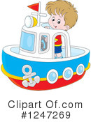 Royalty-Free (RF) Boat Clipart Illustration #1247269