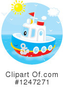 Royalty-Free (RF) Boat Clipart Illustration #1247271