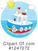 Royalty-Free (RF) Boat Clipart Illustration #1247272
