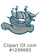 Royalty-Free (RF) Boat Clipart Illustration #1298683