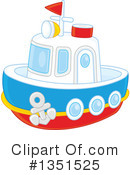 Royalty-Free (RF) Boat Clipart Illustration #1351525