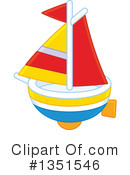 Royalty-Free (RF) Boat Clipart Illustration #1351546