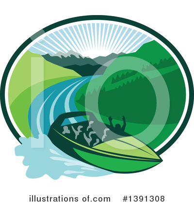 Royalty-Free (RF) Boat Clipart Illustration by patrimonio - Stock Sample #1391308
