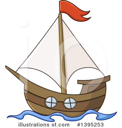 Sailboat Clipart #1395253 by yayayoyo