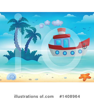 Island Clipart #1408964 by visekart