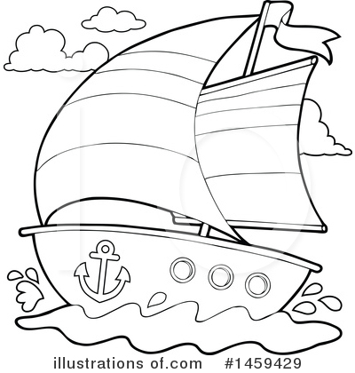 Sailboat Clipart #1459429 by visekart