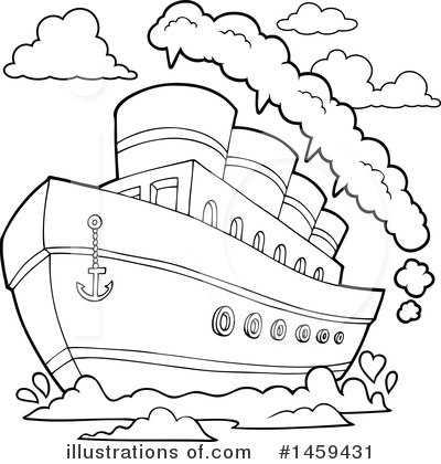 Royalty-Free (RF) Boat Clipart Illustration by visekart - Stock Sample #1459431