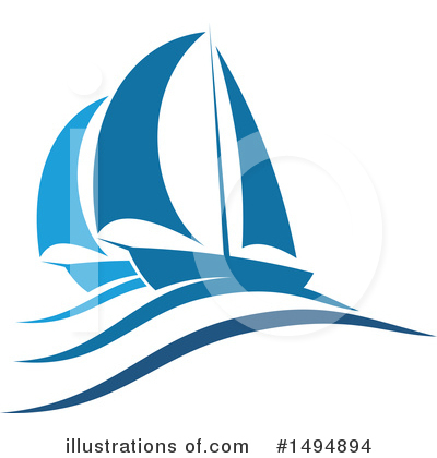 Sailboat Clipart #1494894 by Vector Tradition SM