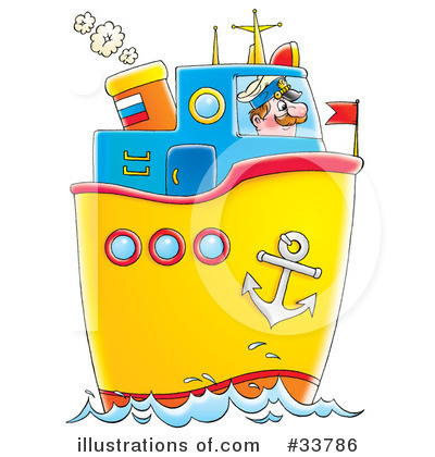 Royalty-Free (RF) Boat Clipart Illustration by Alex Bannykh - Stock Sample #33786