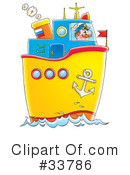 Royalty-Free (RF) Boat Clipart Illustration #33786