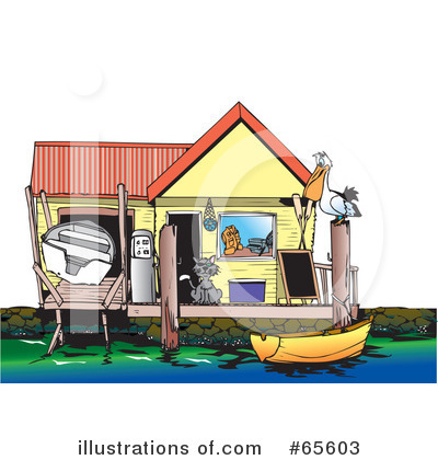 Boat Clipart #65603 - Illustration by Dennis Holmes Designs