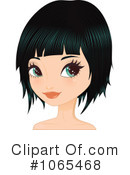 Royalty-Free (RF) Bob Hairstyle Clipart Illustration #1065468