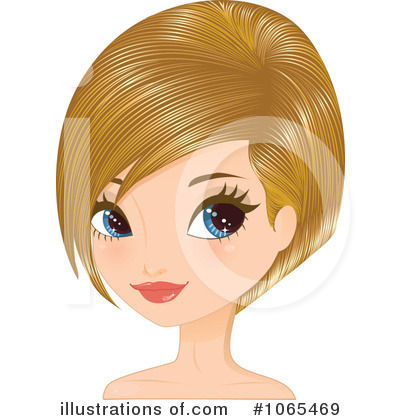 Hairstyles Clipart #1065469 by Melisende Vector