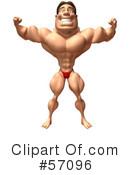 Bob The Bodybuilder Character Clipart #57096 by Julos
