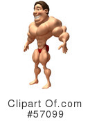 Bob The Bodybuilder Character Clipart #57099 by Julos