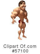 Bob The Bodybuilder Character Clipart #57100 by Julos