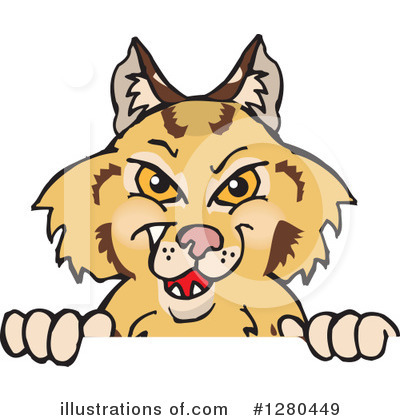 Bobcat Clipart #1280449 by Dennis Holmes Designs