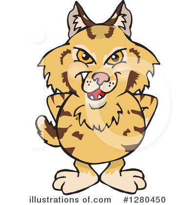 Bobcat Clipart #1280450 by Dennis Holmes Designs