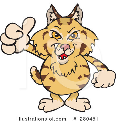 Bobcat Clipart #1280451 by Dennis Holmes Designs