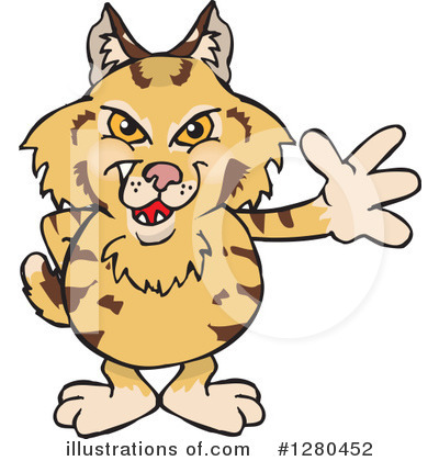 Bobcat Clipart #1280452 by Dennis Holmes Designs